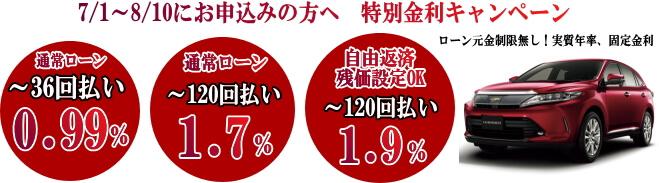 オートローンキャンペーン0.99%~